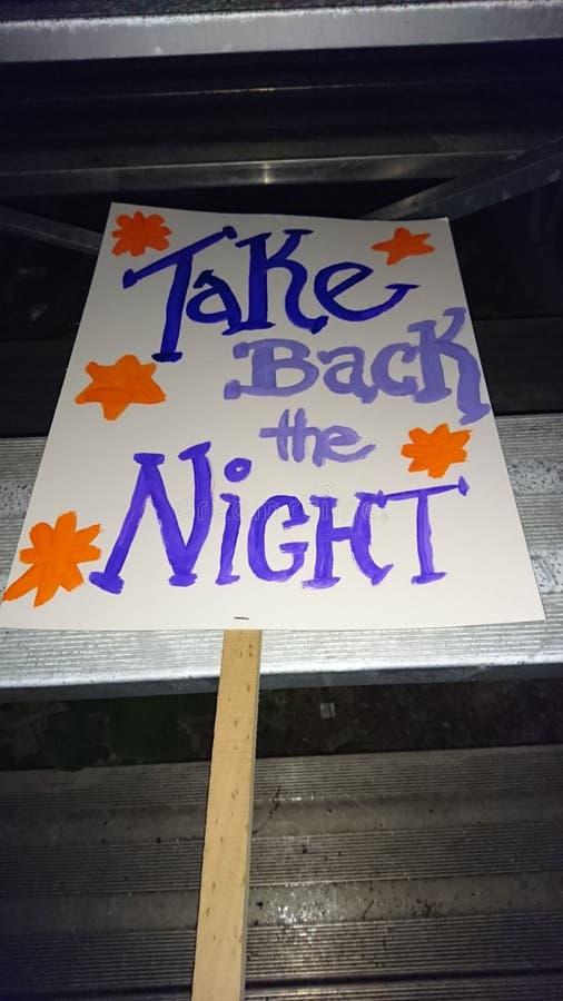 Zwrot noc marsz obrazy royalty free