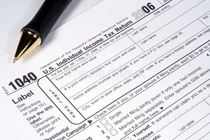 zwrot podatku długopisy dochodu zdjęcie royalty free