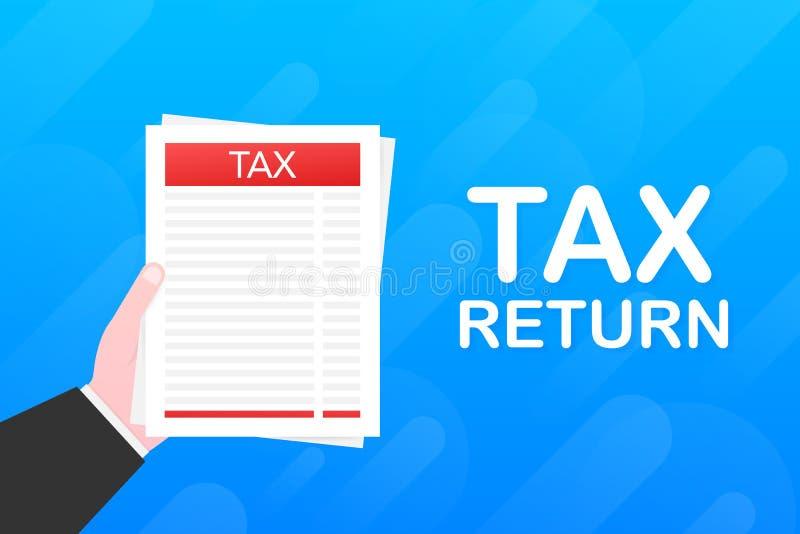 Zwrot podatku Rz?d, stan?w podatki Dane analiza, pieniężny badanie, papierkowa robota r?wnie? zwr?ci? corel ilustracji wektora ilustracji