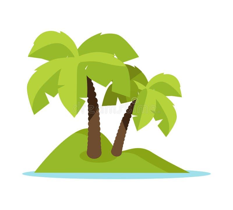 Zwrotnik wyspy pojęcia Wektorowy Ilustracyjny sztandar royalty ilustracja
