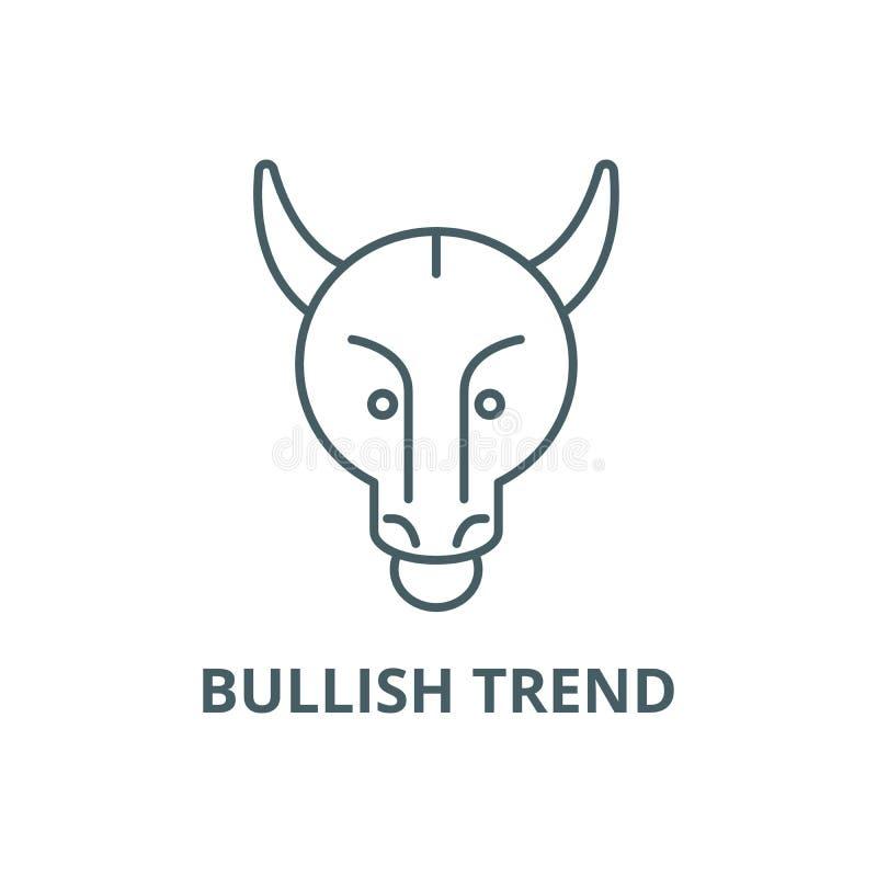Zwyżkowa trend linii ikona, wektor Zwyżkowy trendu konturu znak, pojęcie symbol, płaska ilustracja ilustracji