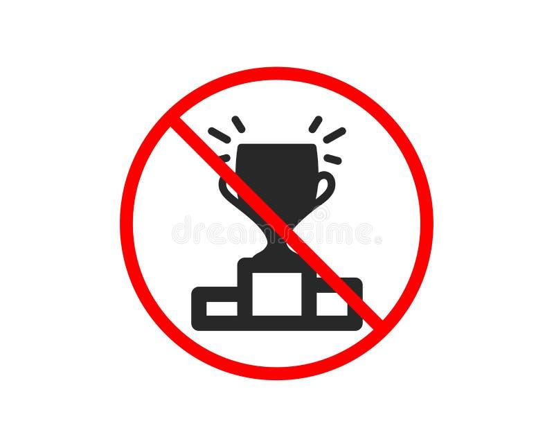 Zwycięzcy podium ikona Sporta trofeum wektor ilustracji