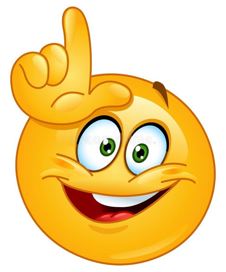 Zwyciężony emoticon ilustracji