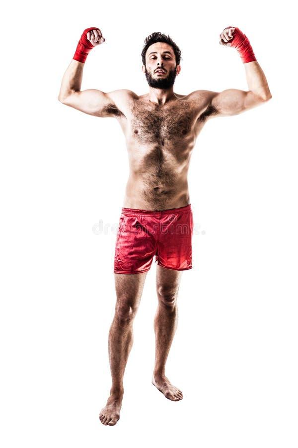 Zwycięski bokser obrazy stock
