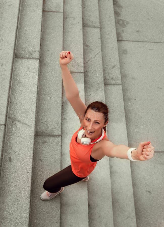 Zwycięstwa jogger zdjęcie stock