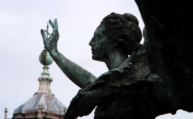` zwycięstwa Oskrzydlony ` Bogini Nike, charakter od Greckiej mitologii, symbolizuje ` zwycięstwa ` obraz royalty free