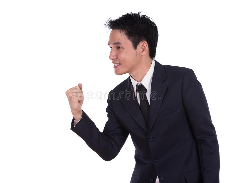 zwycięstwo biznesmena obrazy stock