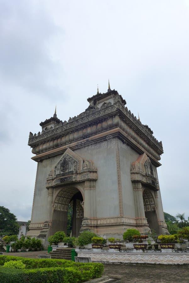 Zwycięstwo brama Patuxai, Vientiane, Laos, Azja Południowo-Wschodnia fotografia stock