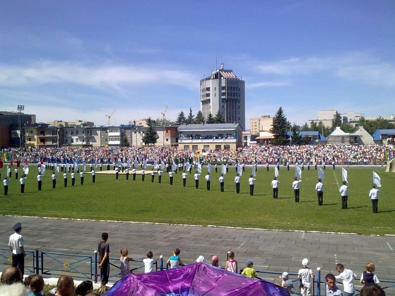 Zwycięstwo dzień, Kamenets-Podolskiy, Ukraina obraz royalty free