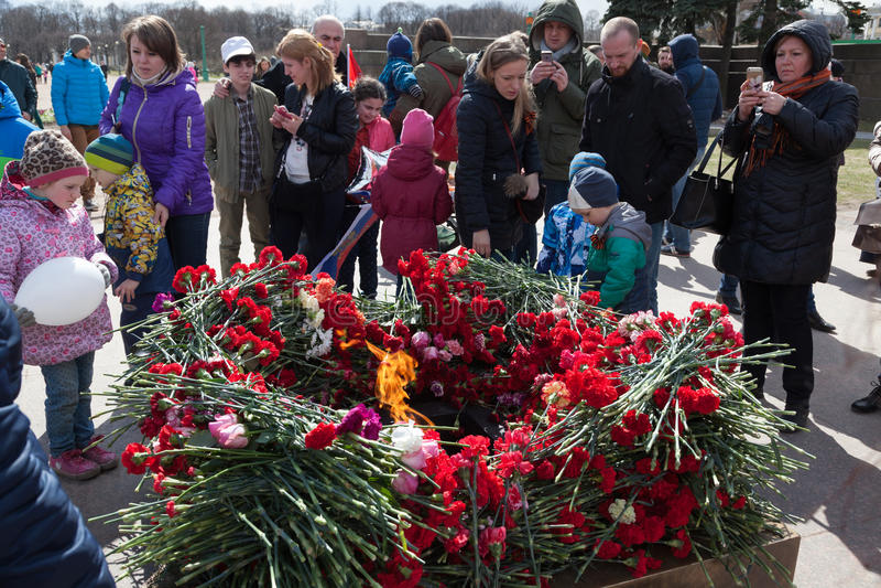 Zwycięstwo dzień w St Peterburg obrazy royalty free