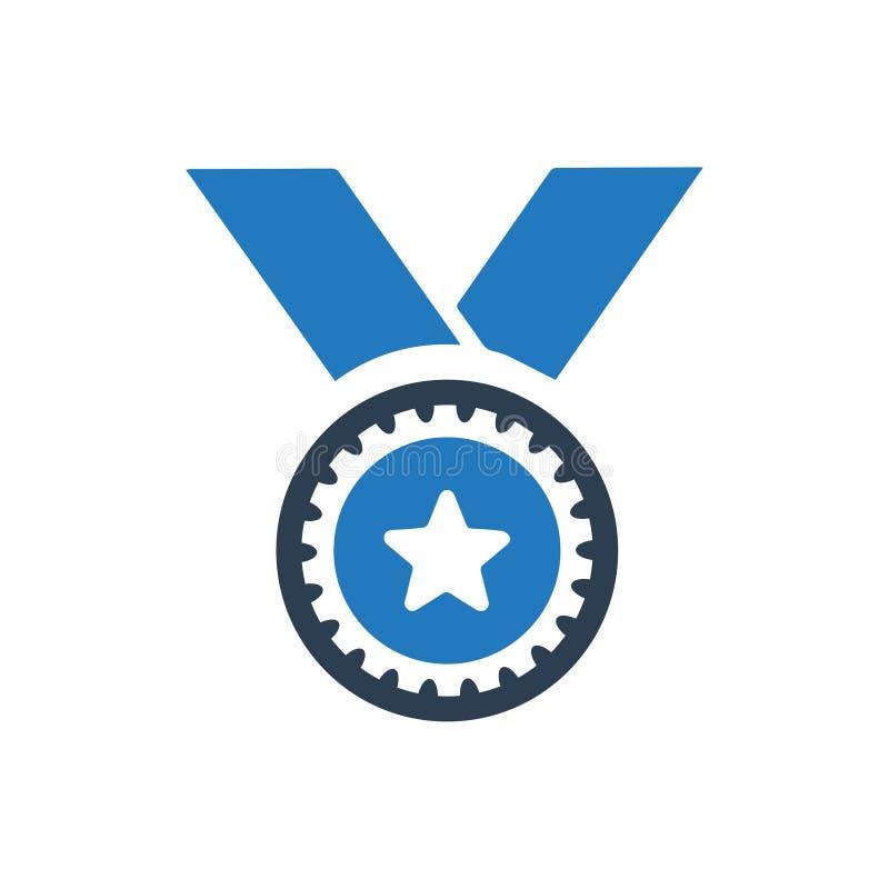 Zwycięstwo, medal ikona royalty ilustracja