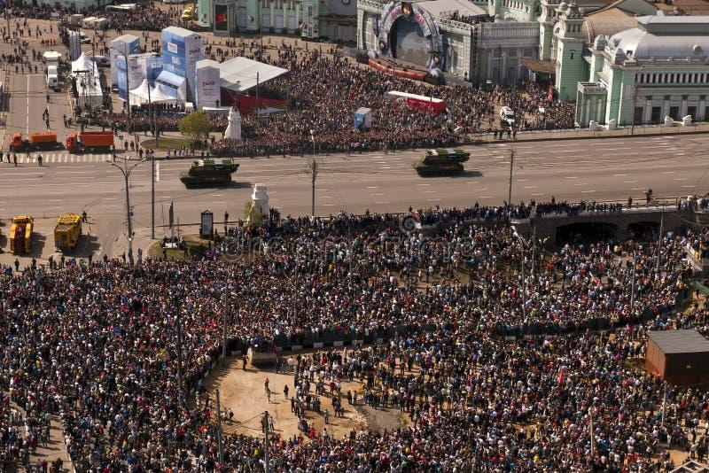 Zwycięstwo parady zbiorniki, Moskwa, Rosja obraz royalty free