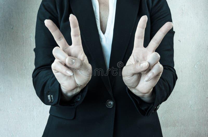 Zwycięstwo symbol fotografia stock