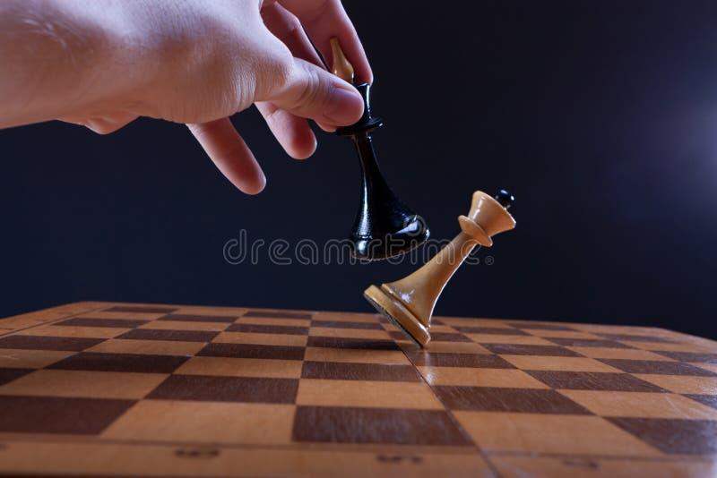 Zwycięstwo w szachowym pojedynku obraz royalty free