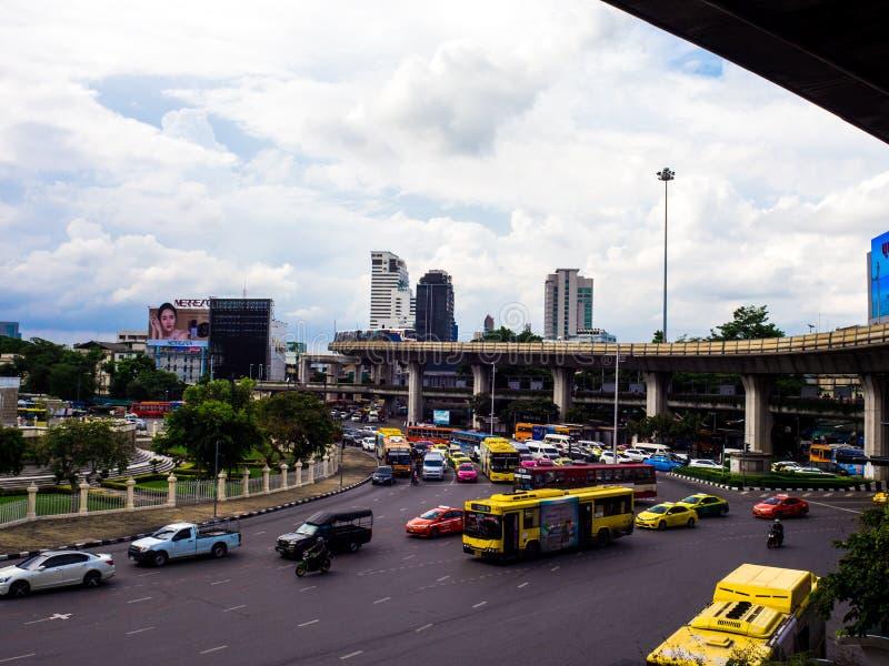 Zwycięstwo zabytek Bangkok, Tajlandia: Czerwiec 2018 obrazy stock