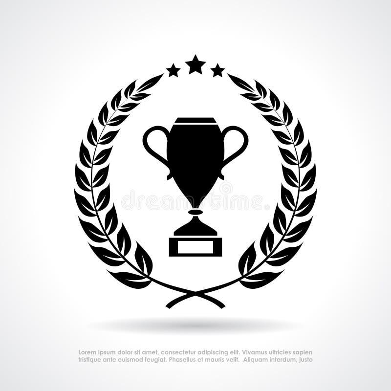 Zwycięzca filiżanki nagroda ilustracji