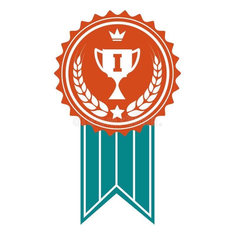 Zwycięzca nagrody kolorowa odznaka ilustracji