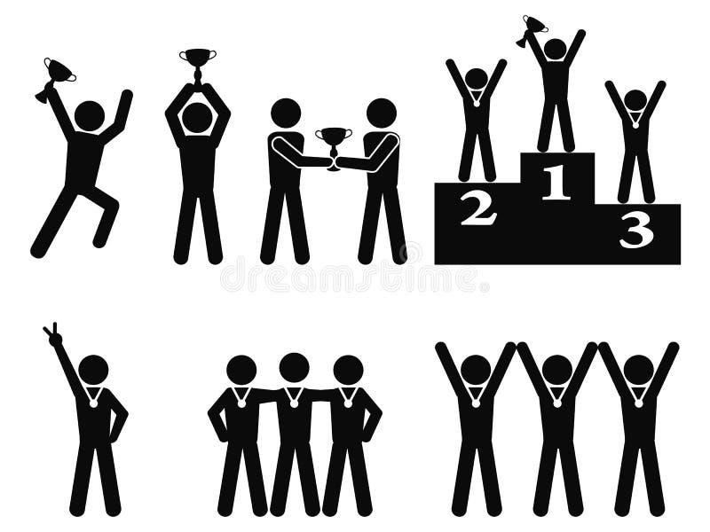 Zwycięzcy świętowania mistrza symbol ilustracji