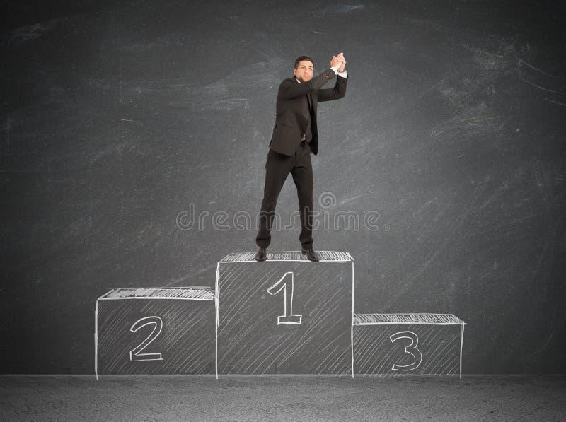 Zwycięzcy biznesmen obrazy stock