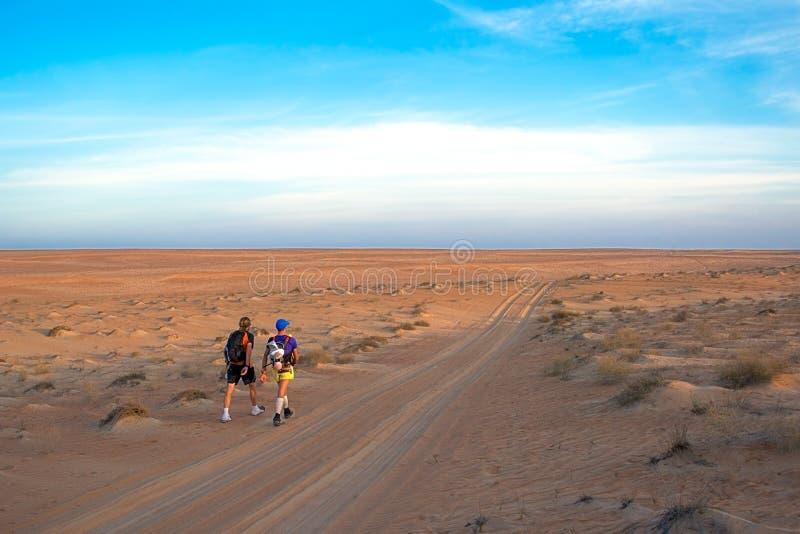 Zwycięzcy krańcowy wytrzymałość maraton Transomania 2014 zdjęcia stock