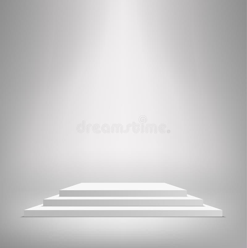 Zwycięzcy podium z pracownianym tłem ilustracji