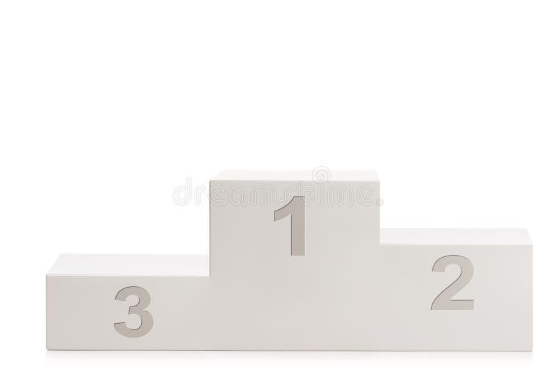 Zwycięzcy ` s piedestał dla pierwszy drugi i na trzecim miejscu obraz stock