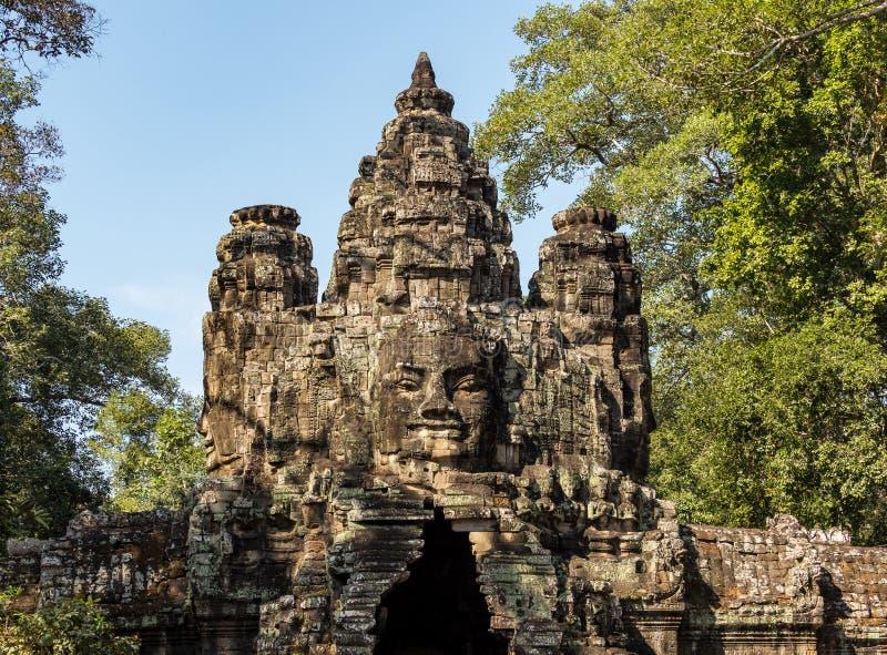 Zwyci?stwo brama Angkor Thom przy Siem Przeprowadza ?niwa, Kambod?a obraz royalty free