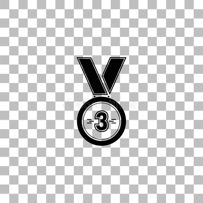 3 zwyci?zc?w br?zowego medalu nagrody ikony mieszkanie ilustracji