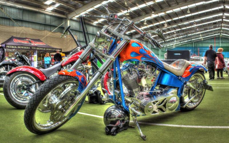Zwyczaj malujący motocykl obrazy stock