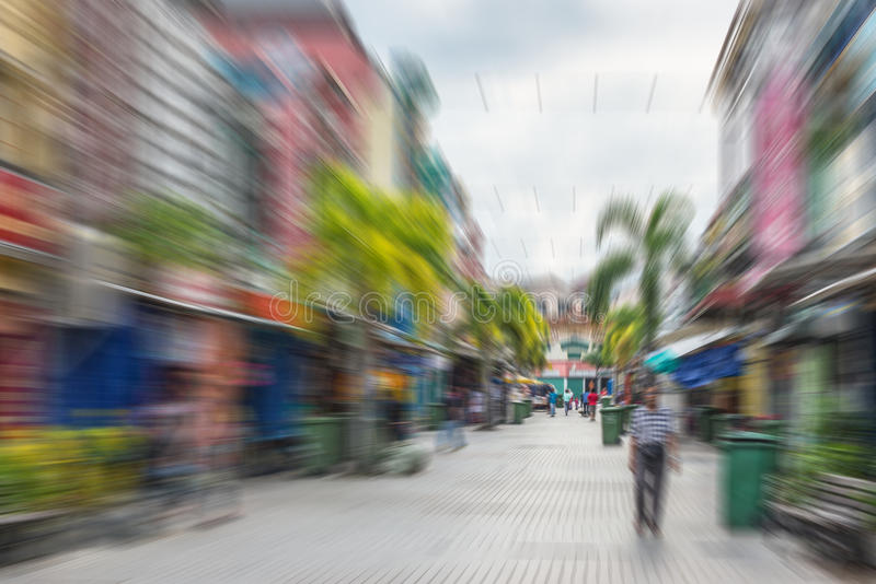 Zwyczajna ulica w azjatykcim mieście fotografia royalty free