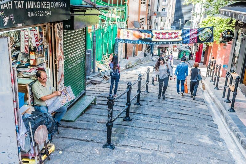 Zwyczajna ulicy Soho centrala Hong Kong obraz stock