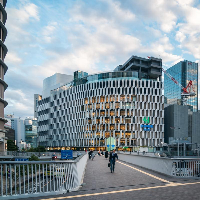 Zwyczajny przejście przy Umeda dworcem w Osaka, Japonia obraz royalty free