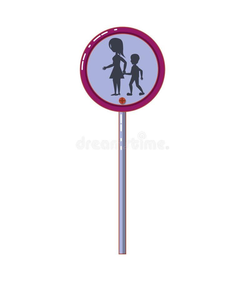 Zwyczajny skrzyżowanie sygnalizacji drogowej royalty ilustracja