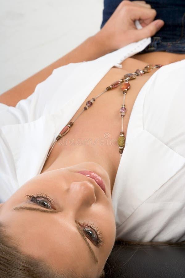 zwykła kobieta biżuterii mody zdjęcia stock