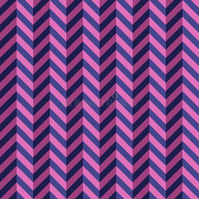Zygzakowaty kolor linii bezszwowy wzór ilustracja wektor