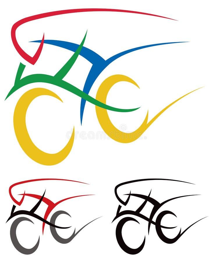 Zyklus-Logo lizenzfreie abbildung