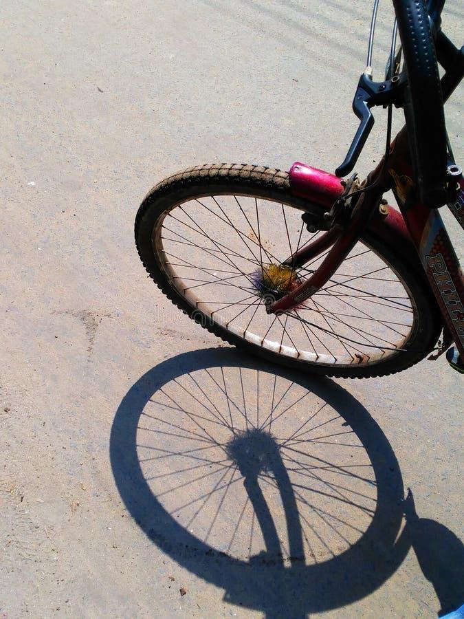 Zyklusschatten stockfoto