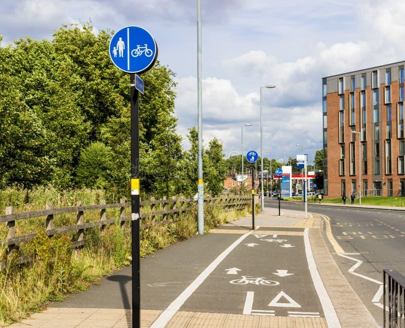 Zyklusweg stockbilder