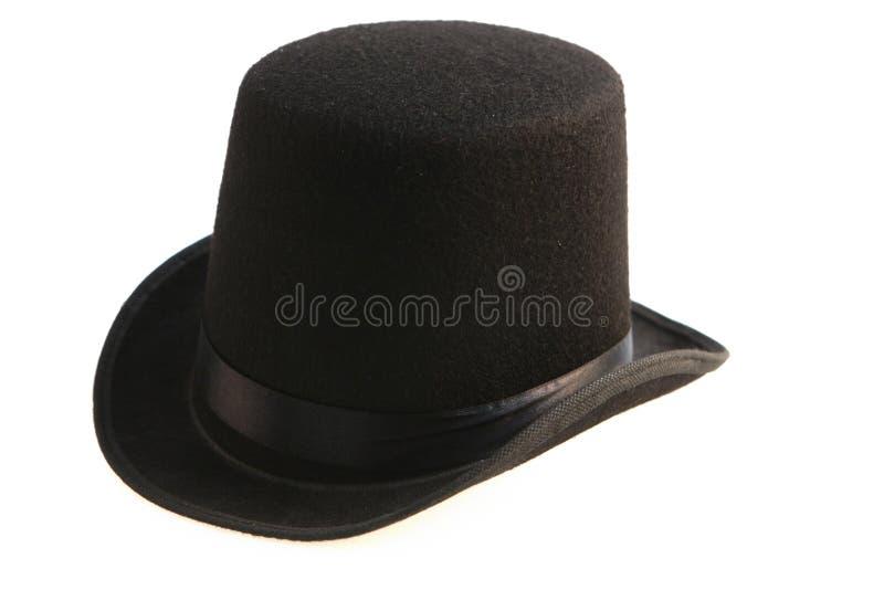 Zylinder des schwarzen Hutes stockfotografie