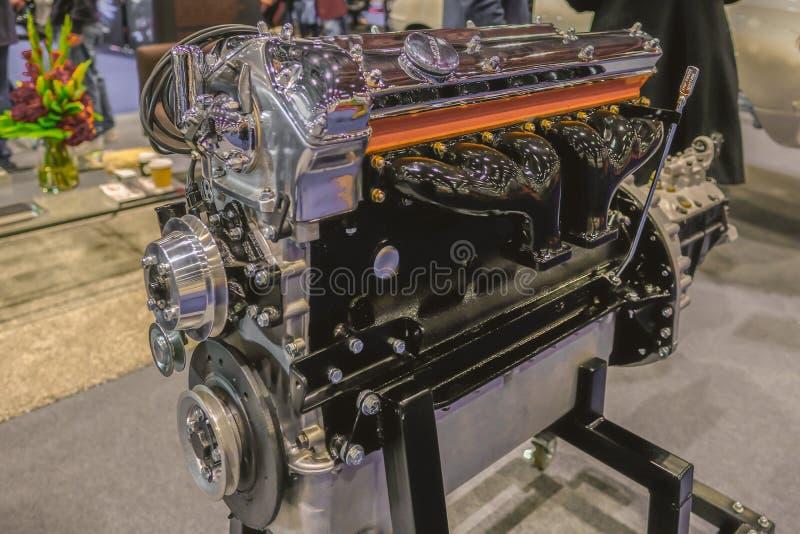 6 Zylinder Jaguar-Maschine lizenzfreies stockbild