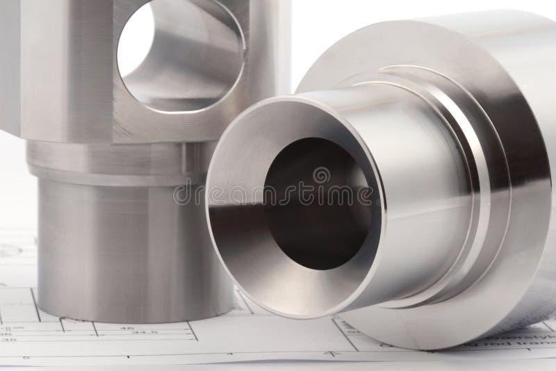 Zylinderförmige Werkstücke stockfoto