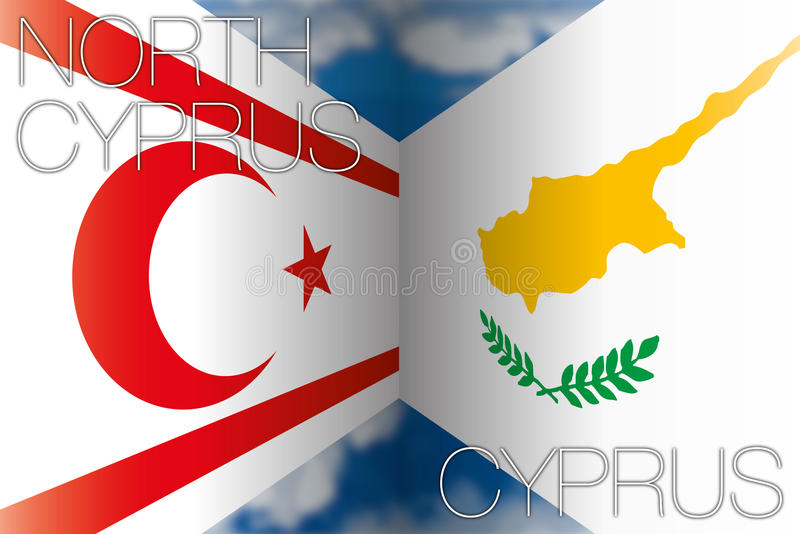 Zypern gegen Nord-Zypern vektor abbildung