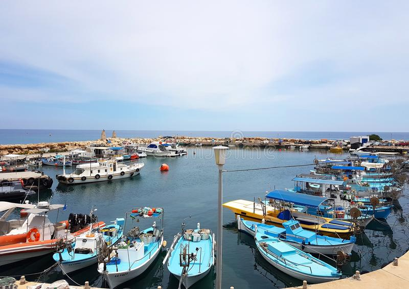 Zypern Pernera, Promenade lizenzfreie stockbilder
