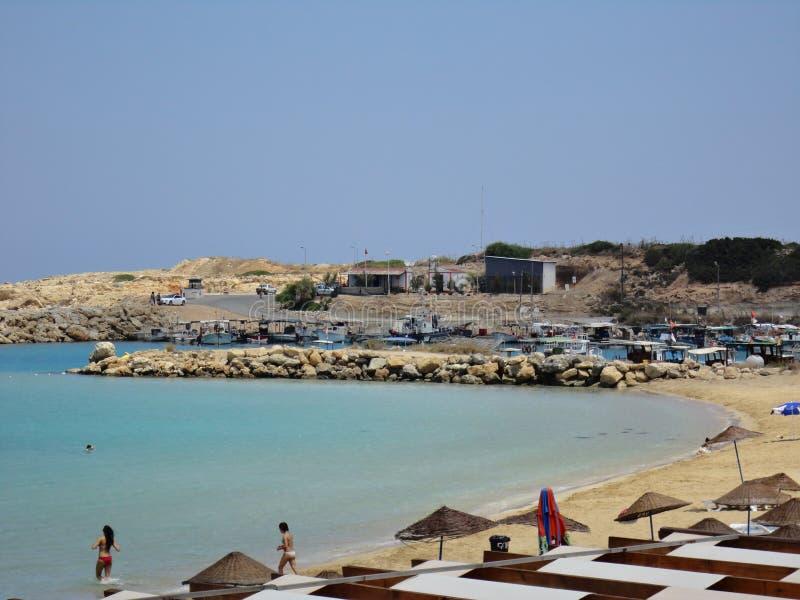 Zypern-Strandurlaub lizenzfreies stockfoto