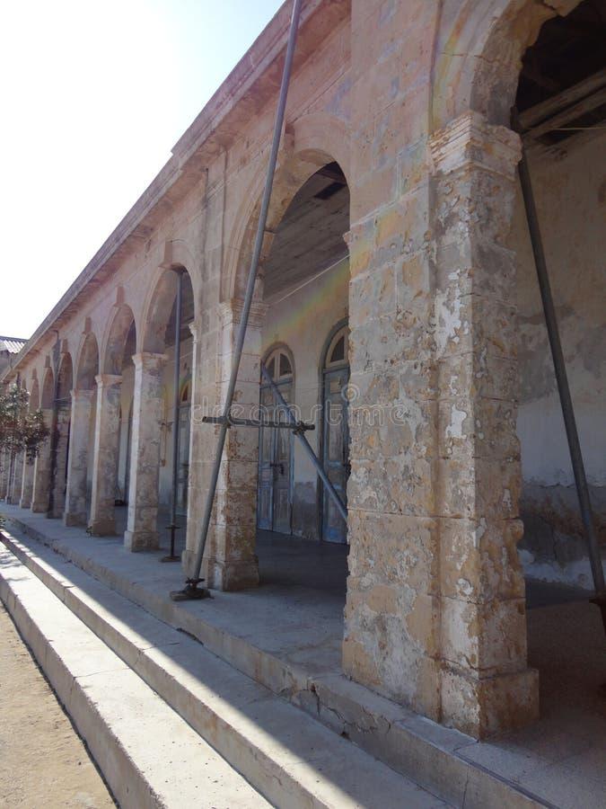 Zypriotische Architektur - Altbau stockbild