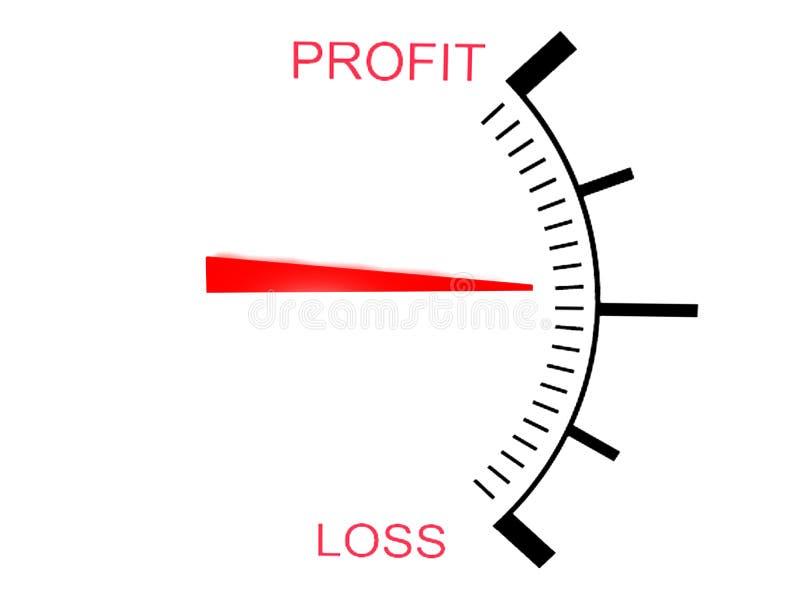 zysk wymiernika straty zysk trzy ilustracja wektor