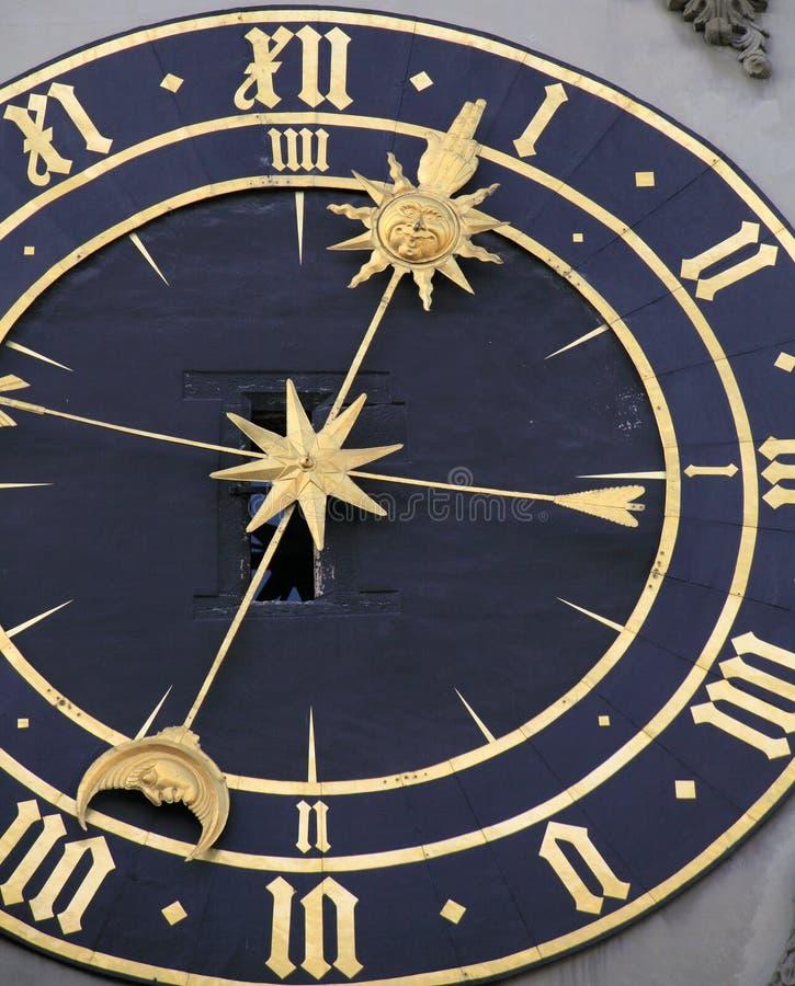 Zytglogge时钟在伯尔尼 库存照片