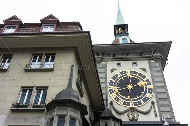 Zytglogge clock tower in berne switzerland. Tourism royalty free stock images