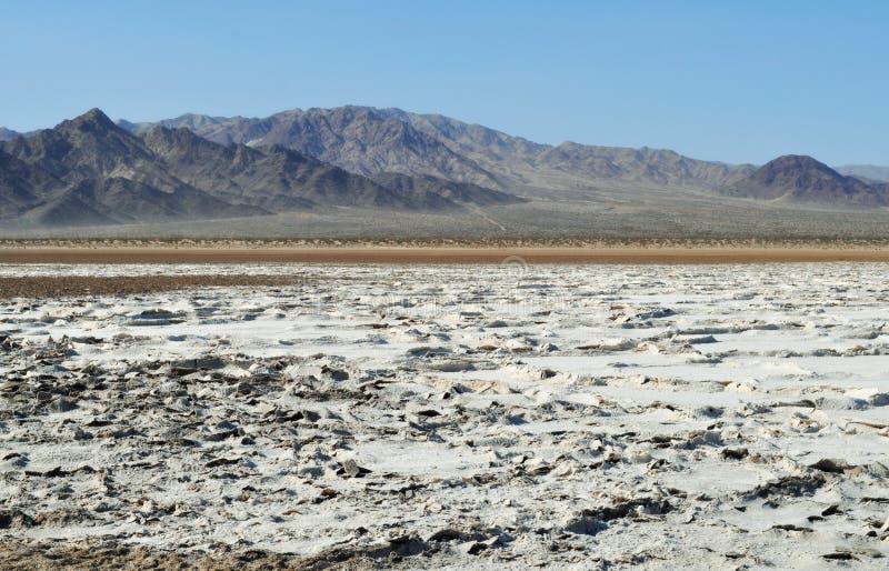 Zzyzx, lago soda, deserto del Mojave immagini stock libere da diritti