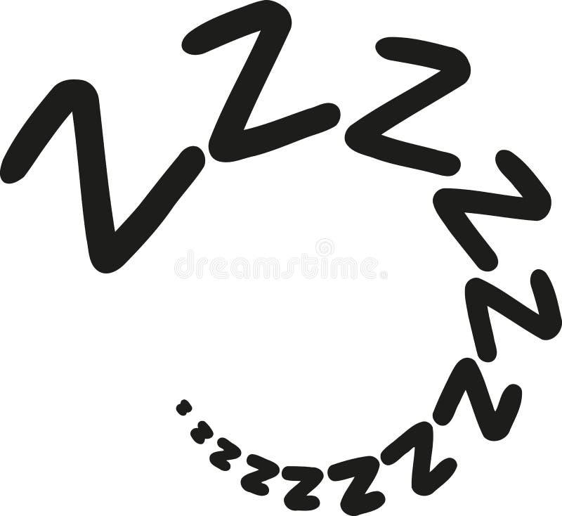 Zzz dosypiania sen ilustracja wektor